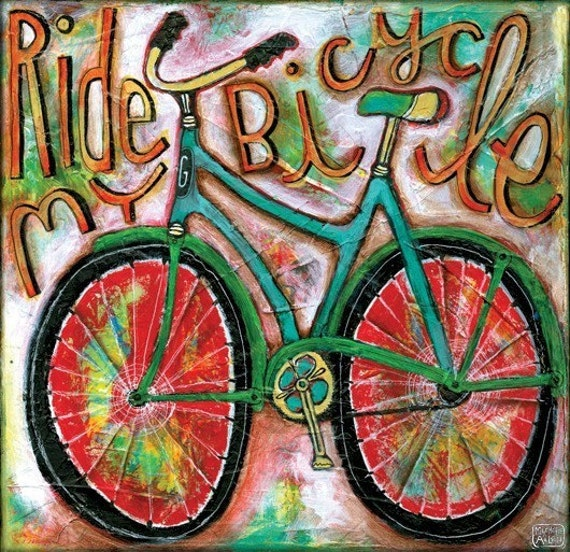 Ride My Bicycle Art Print