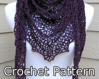 PDF Crochet Pattern- Simple Scallops