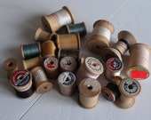 Vintage Spools of thread\/holders