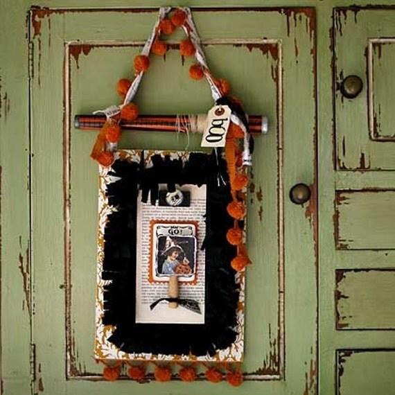 vintage halloween banner - scrapbook project kit