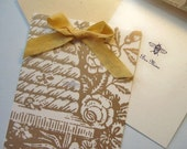 2 Bee Mine Cards with Ribbon Tie