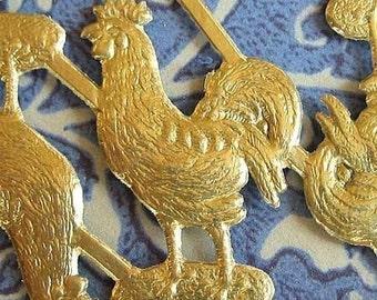 Gold Foil Dresden Hens (Rooster) ( 20 per set)
