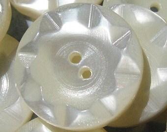"8 Vintage Mother of Pearl Sunburst Buttons (5/8"")"