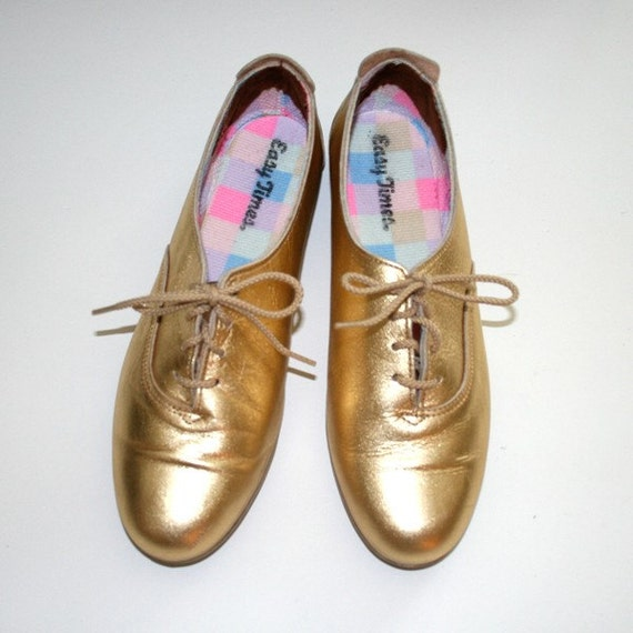 80s GOLD SHOES