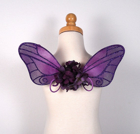 Fairy Wings for baby - Ideal for fairy costume, wedding, fairy photography - Purple fairy wings - Irene design