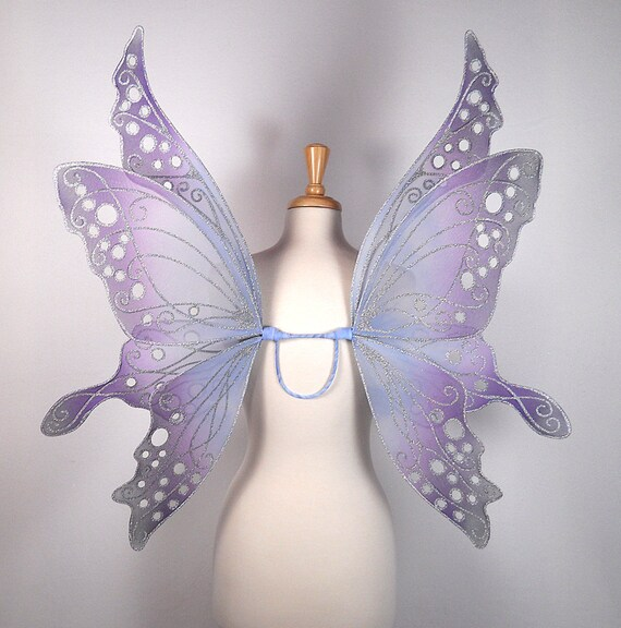 Fairy wings - Ideal for wedding, fairy costume, fairy photography - Blue fairy wings - Handmade - Custom - Ariel Design