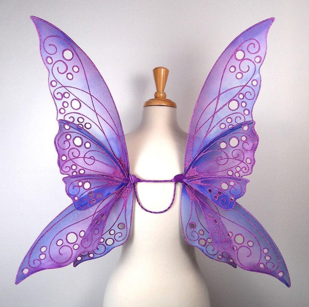 fairy wings blue and purple handmade custom rhiannon
