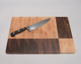 Geometric End Grain Cutting Board - Squares and Rectangles