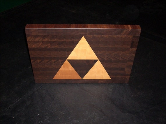 Triforce End-Grain Cutting Board