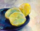 Three lemon wedges