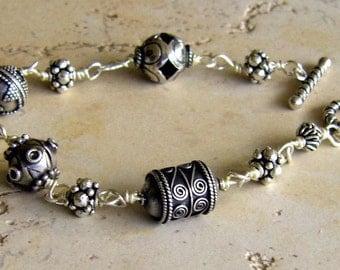Bali & Sterline Silver Bracelet