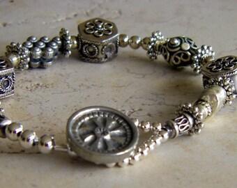 Bali & Sterling Silver 2 Bracelet