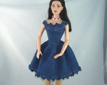 Crochet pattern for party dress for 16 inch dolls