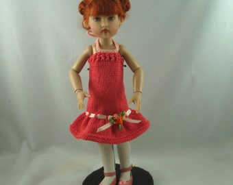 knit dress for 12 inch doll