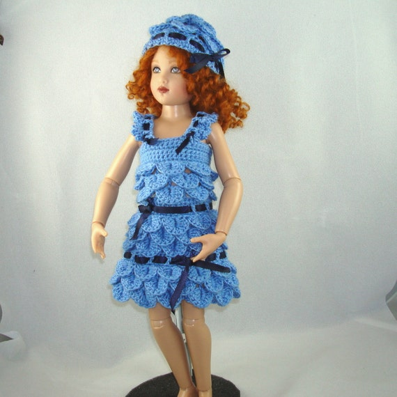 Crochet pattern for Kish 14 inch Lark doll-petal dress