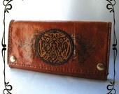 SALE  1/2 OFF UNTIIL 9/26 Jacob Black / Team Jacob Inspired Leather Long Wallet