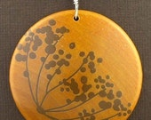 Mekko Quality Stained Maple Wood 2in Pendant with FREE rubber cord 16 or 18 inch choose one