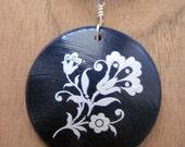 Alpen...Blue Jewelry Maple Wood Pendant...I am a KIVA loaner