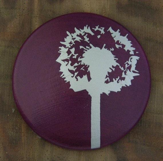 Dandelion...Maple Wood Brooch