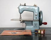 RARE & BEAUTIFUL: 1940s Baby Brother Sewing Machine and Accessories