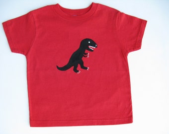 Kids Dinosaur T Shirt, T Rex Tee or Top Hand Painted for Baby or Toddler, Dinosaur Theme Birthday Party