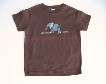 Elephant T Shirt, Circus Theme Party, Birthday Party Shirt, Zoo Birthday Party, Hand Painted, Zoo Animal, Tee or Top, Baby and Toddler