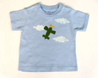 Airplane T Shirt, Airplane Birthday Theme, Airplane Party, Airplane Pilot Shirt, Airport Shirt, Hand Painted, Tee or Top, Baby or Toddler