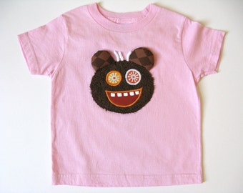 Cat TShirt, Kitten Applique Patch, Cat Lover Shirt, Pink Cotton Shirt, Short Sleeve, Animal Shirt, Kitten Tee or Top, Baby or Toddler