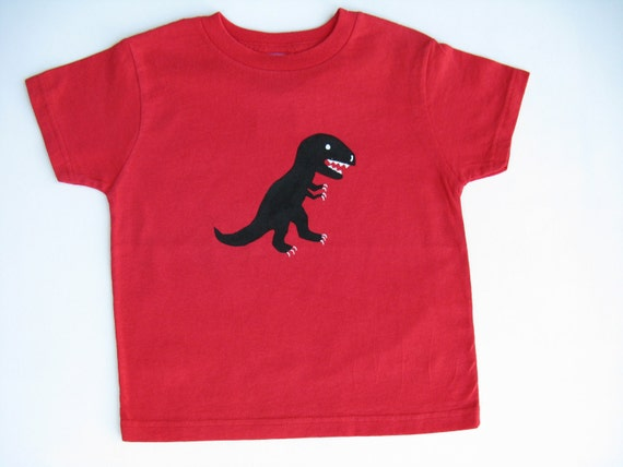 Kids Dinosaur TShirt, T Rex Tee or Top, Dinosaur Theme Party, Dinosaur Outfit, Dinosaur Birthday Party, Hand Painted for Baby and Toddlers