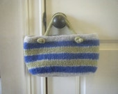 Hand Knit Felted Bag - FREE SHIPPING
