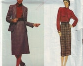 vogue 2283, calvin klein vintage 80s jacket, skirt and blouse pattern UNCUT, size 12, bust 34 FREE SHIPPING  to canada and usa