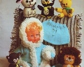 vintage 70s bits and bobs knitting pattern book 2641, gifts, accessories and toys