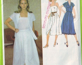 simplicity 8976, vintage 70s two piece dress pattern UNCUT, size 10, bust 32.5 FREE SHIPPING to canada and usa