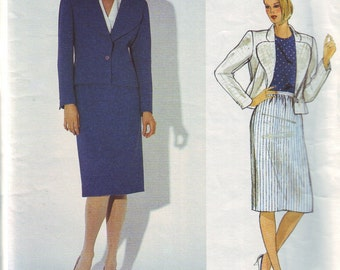 vogue 1159, american designer john anthony vintage 80s suit pattern UNCUT, size 12, bust 34 FREE SHIPPING to canada and usa