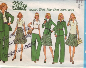 simplicity 7070, vintage 70s women's separates pattern UNCUT, size 10, bust 32.5 FREE SHIPPING to canada and usa