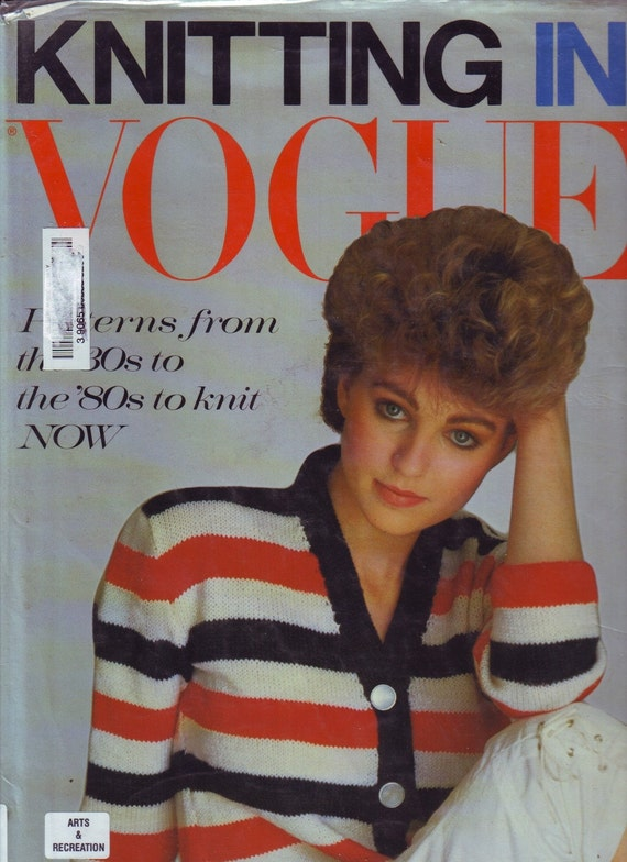 Vintage Vogue Knitting Pattern Books : knitting in vogue vintage 80s knitting pattern book