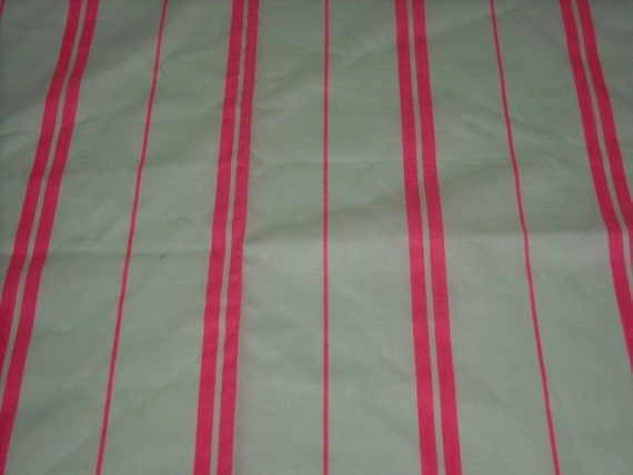 vintage 80s novelty print fabric, featuring great pink neon stripe design, 1 yard, 20 inches