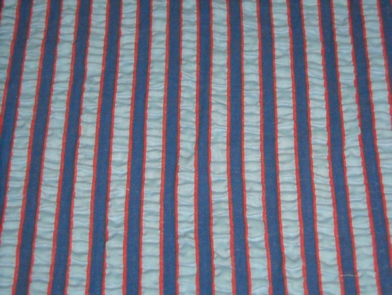 RESERVED FOR TRUELOVE vintage 50s novelty fabric featuring lovely seersucker stripe motif, 2 yards