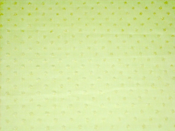 vintage 70s yellow dotted swiss fabric 1 yard, 2 available PRICED PER YARD
