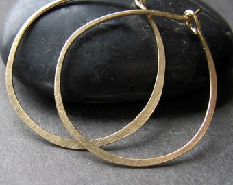 1.25 inch 14K Gold-filled round hoop earrings Hoopla READY TO SHIP