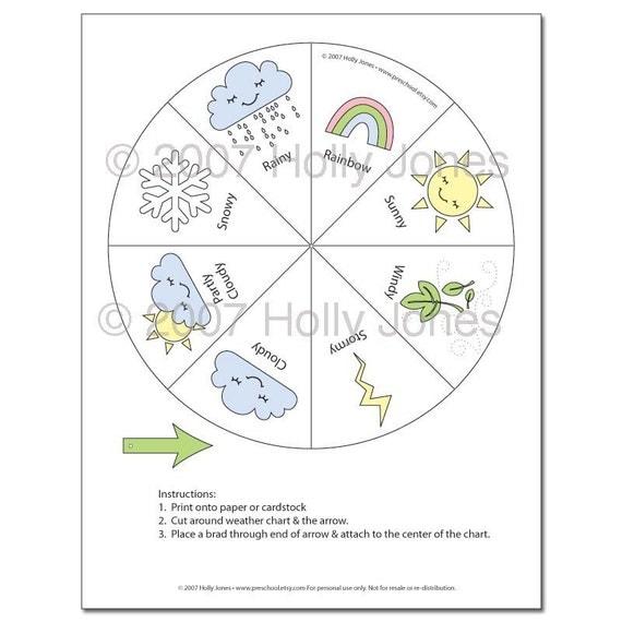 Preschool weather chart pdf activity by preschool on etsy