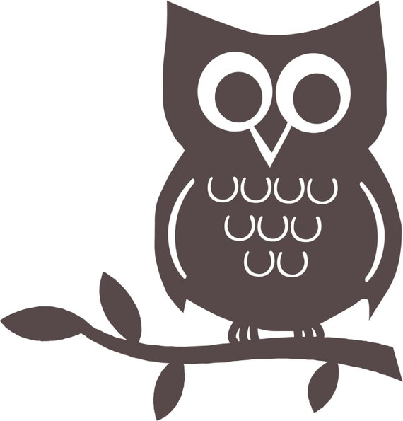 Vinyl decal the great woot ini owl wall graphic for Simple owl pumpkin pattern