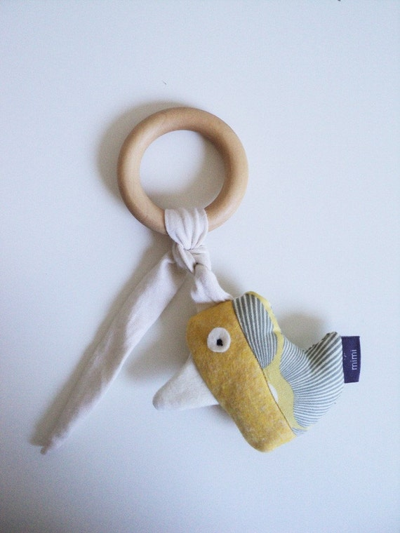 The Bird, rattle and teething ring