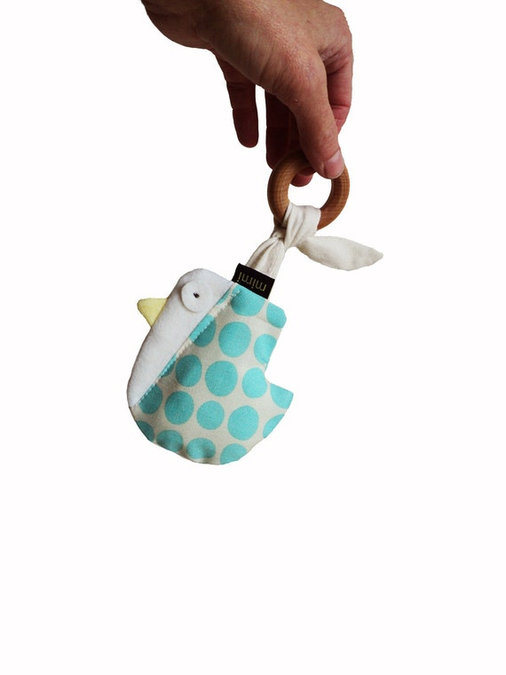 The NEW Bird- rattle-teething ring