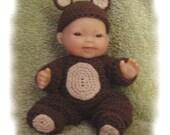 Teddy Bear Costume for 5 Inch Berenguer