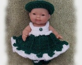 Crochet Pattern Irish Lass Set for 5 Inch Berenguer