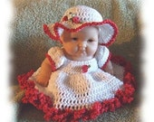 Crochet Pattern for 8 Inch Berenguer Bed Doll