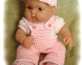 Crochet Pattern for 14 to 15 inch Berenguer Overall Set