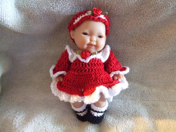 Crochet Patterns for 5 Inch Berenguer Baby A Party Dress