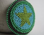 SALE Lime Star Beaded Pin
